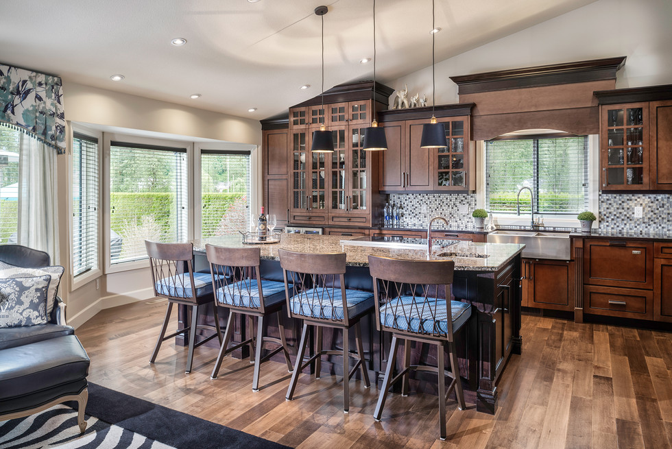 Country Kitchen with Island - Interiors Photography