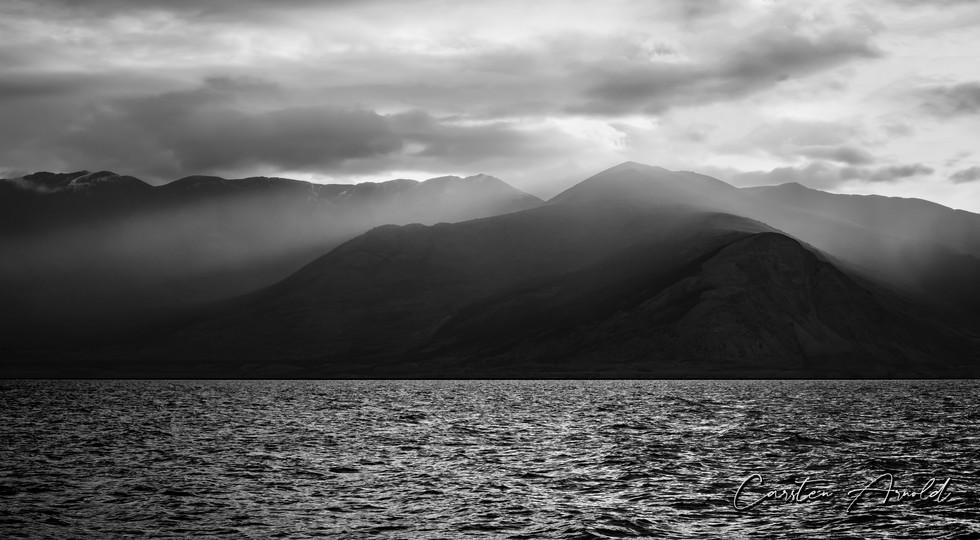 Kluane Lake Misty Sunrise