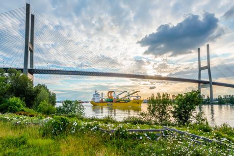 Alex Fraser Bridge - Industrial Photography