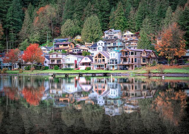 Cultus Lake Homes Reflection - Architectural Photography