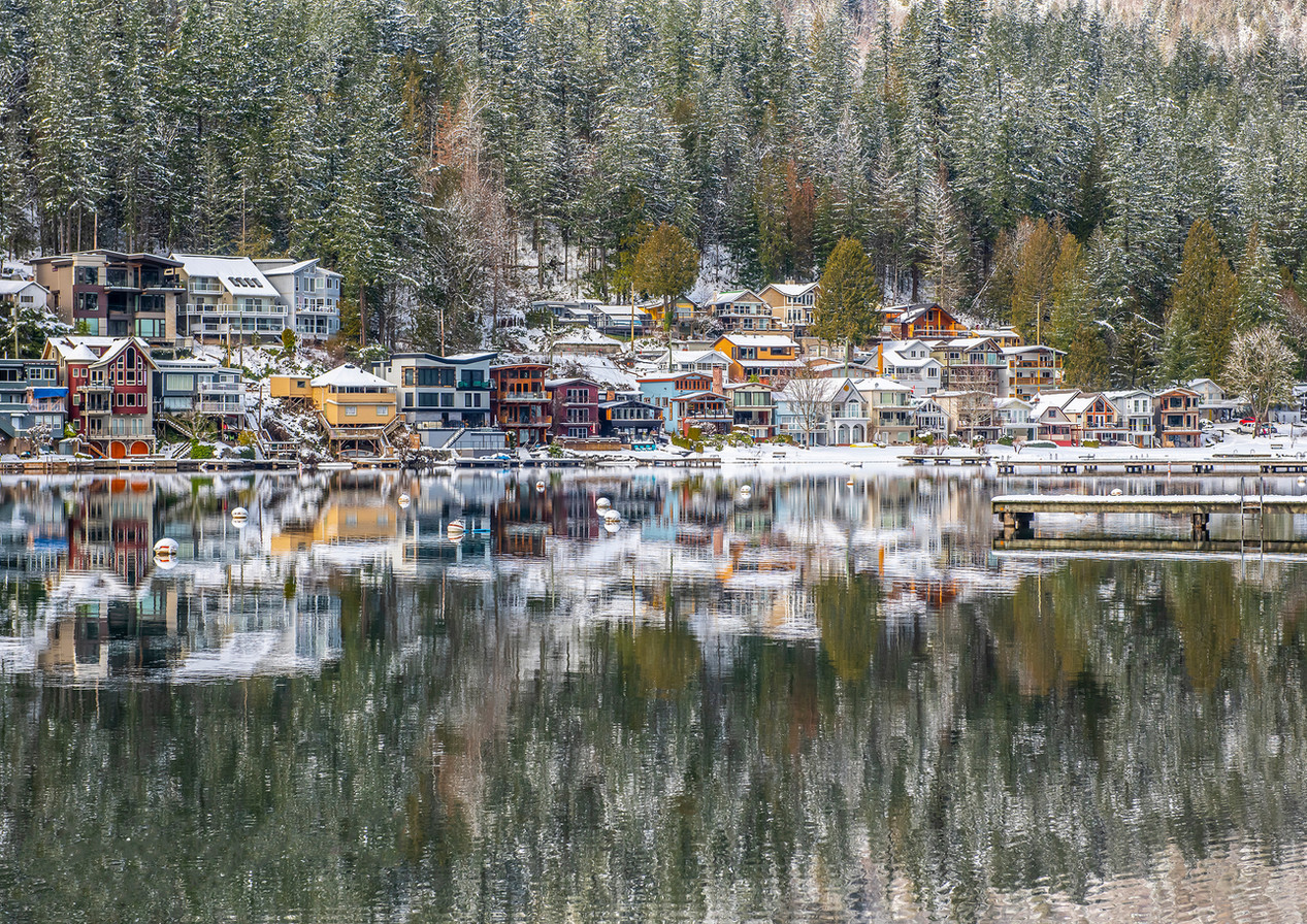 Cultus Lake Homes in Reflection, Chilliwack - Architectural Photography