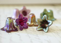 enameled lucite flowers