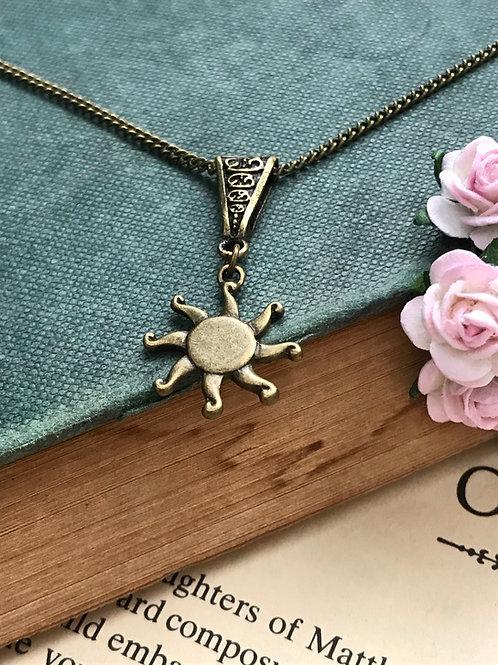 Sun Necklace Bronze Bohemian