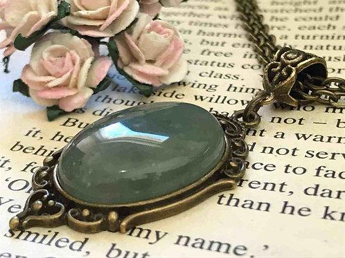 Aventurine Gemstone Necklace Bronze