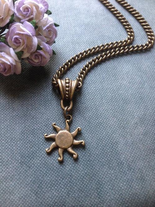 Sun Necklace Bronze