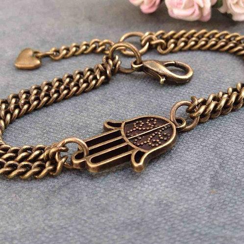 Hamsa Bracelet Bronze