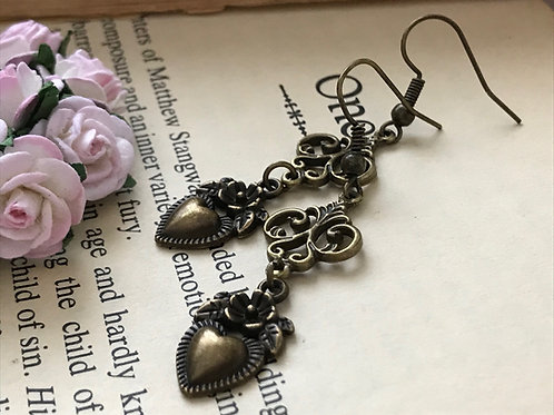 Fleur de Lis Bronze Earrings Bohemian