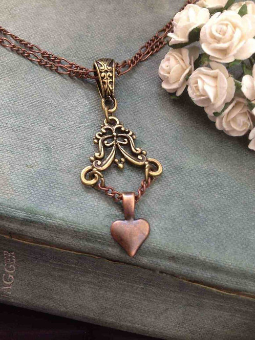 Bohemian Chandelier Necklace Bronze & Copper