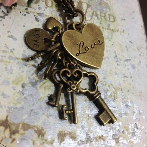 Love & Destiny Bronze Necklace