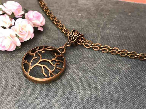 Tree of Life Necklace Bronze