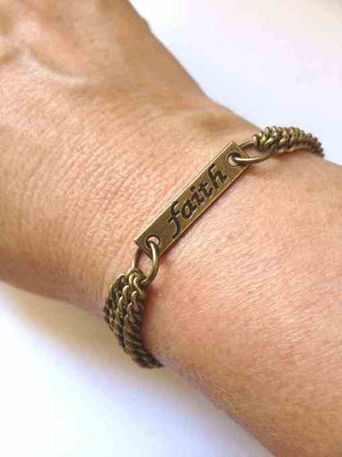 Faith Bracelet Bronze