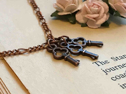 Key Necklace Copper
