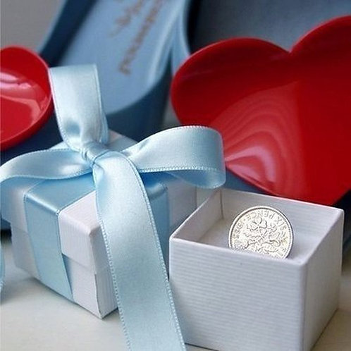 Silver Sixpence for Bride Wedding Good Luck Gift