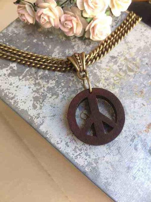 Peace Necklace Bronze Boho