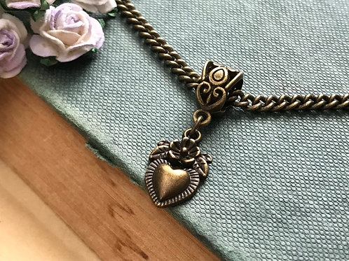 Heart Necklace Bronze