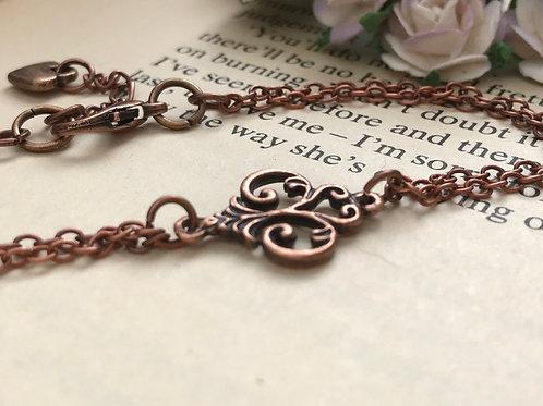 Fleur de Lis Copper Bracelet Bohemian