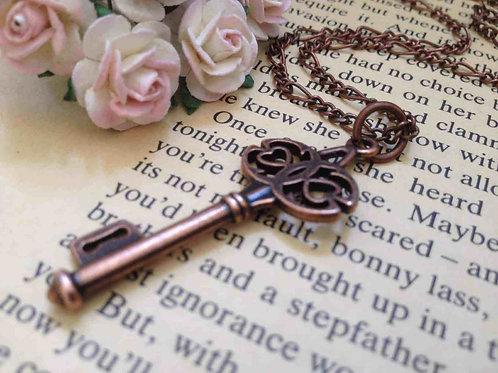 Vintage Copper Key Necklace