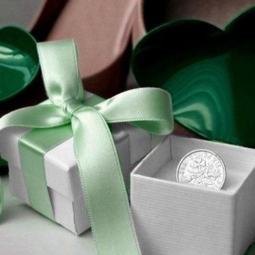 Silver Sixpence Good Luck Gift