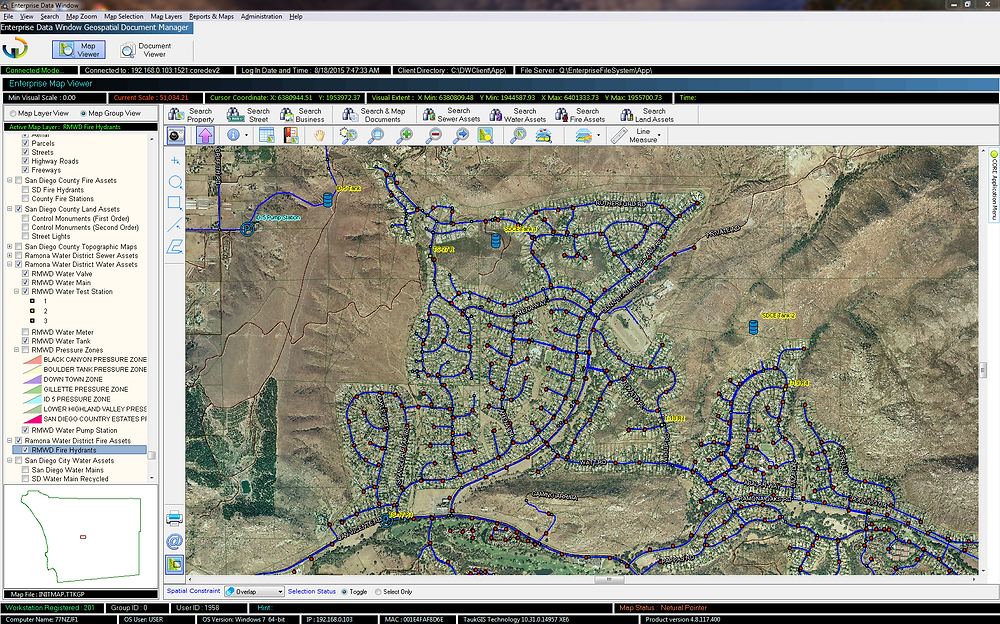 EDMS, GIS, Geospatial, Water District