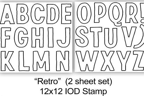 Retro letter Stamp