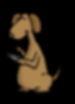 Texting Dog Cartoon Color.png