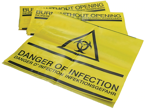 Clinical Waste Bag with Adhesive Strip ( Pack of 50 )