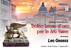 leone d'oro Venezia 2021 Leo Gesess