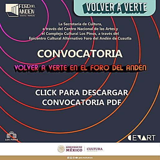 CONVOCATORIA VOLVER A VERTE CUADRADO CLI