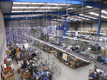 Centre de tri textile