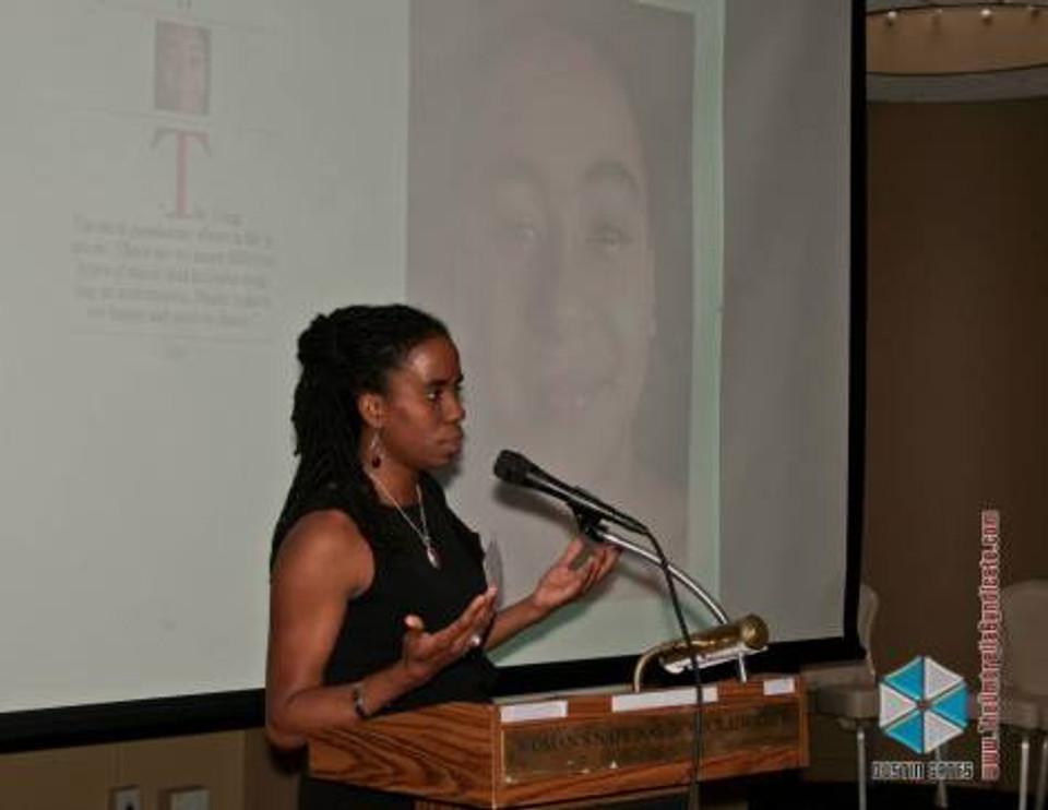 Alyscia Cunningham speaking at WNDC