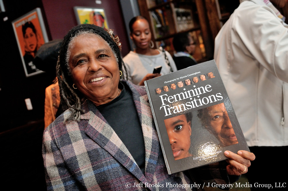 Alyscia Cunningham's book launch party for Feminine Transitions. Held at Busboys and Poets in Hyattsville, MD