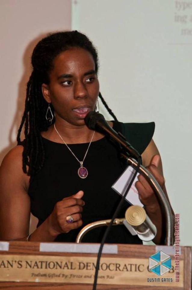 Alyscia Cunningham speaking at WNDC.