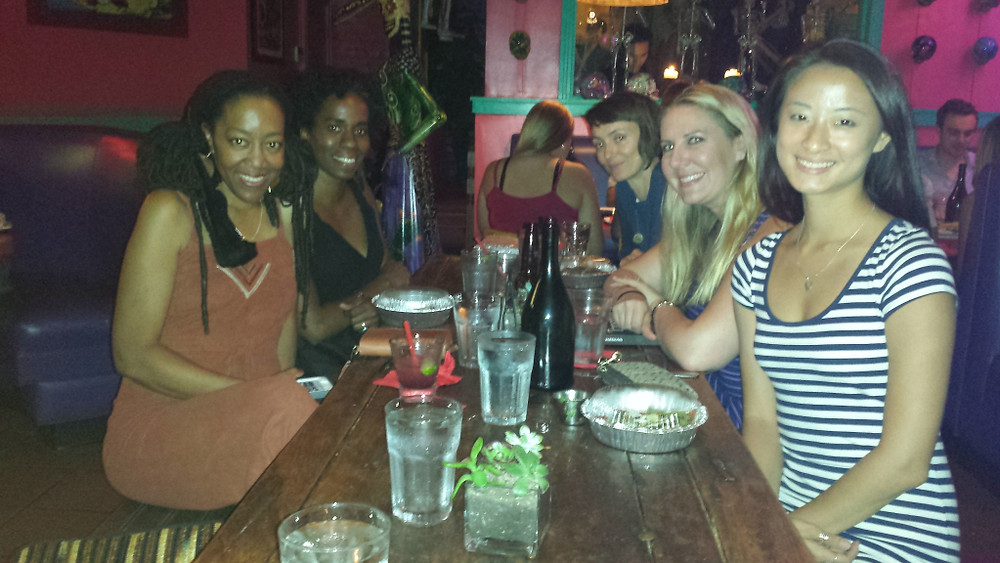 Photo of myself along with the ladies of WAM!LA (Women, Action and the Media Los Angeles) for the Ladydinner in Santa Monica, CA