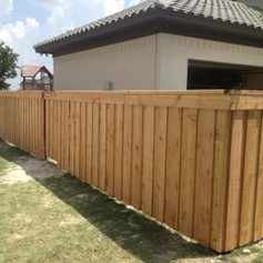 Wooden Fence with metal post