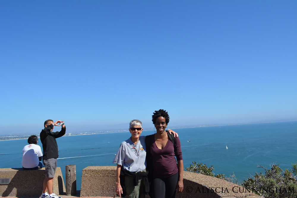 Lee and Alyscia Cunningham after a short hike in Point Fort Loma, San Diego, CA.
