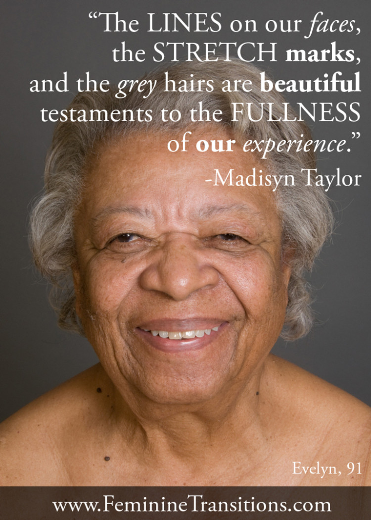 Photo meme from Alyscia Cunningham's image from Feminine Transitions along with a quote from writer Madisyn Taylor