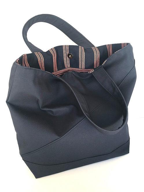 Navy Frances Tote Bag