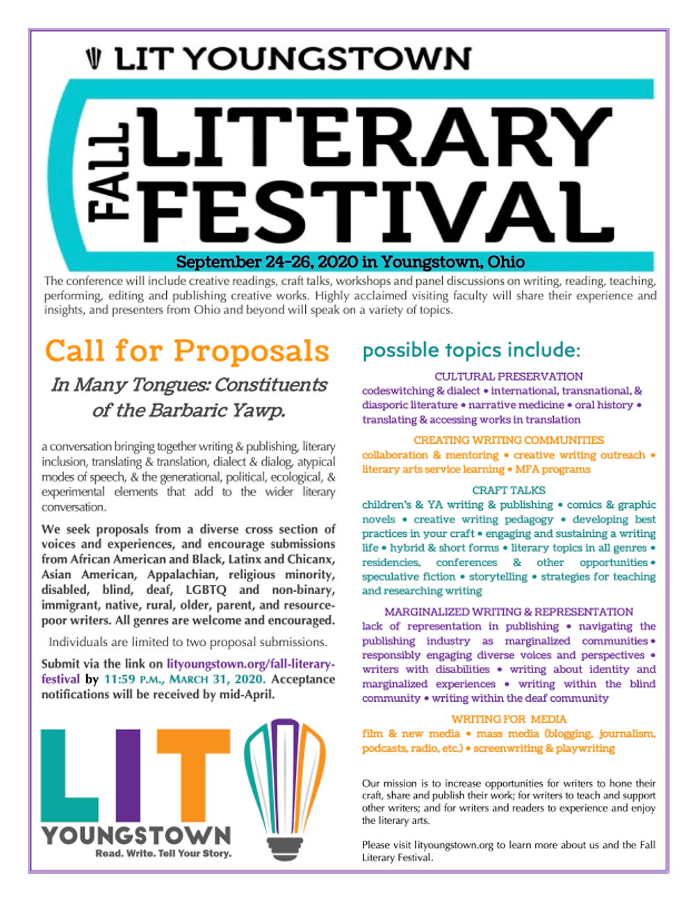 FLF20 Proposal Submissions Flyer