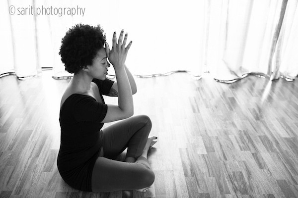 Photo of a woman in a yoga pose