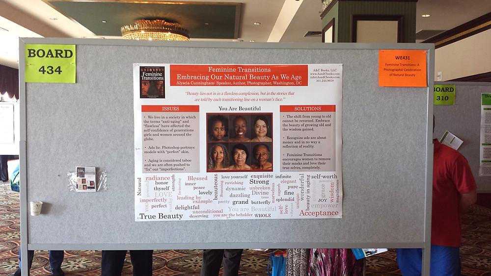 Alyscia Cunningham poster presentation at #AIA14. Feminine Transitions: