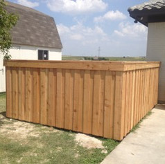 Custom Wooden Fence with Meal Post