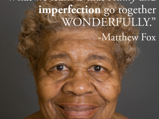 """…beauty and imperfection go together wonderfully."""