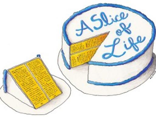 Enjoy Slice of Life: Stories and Dessert on September 29