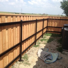 Custom Fence with metal post