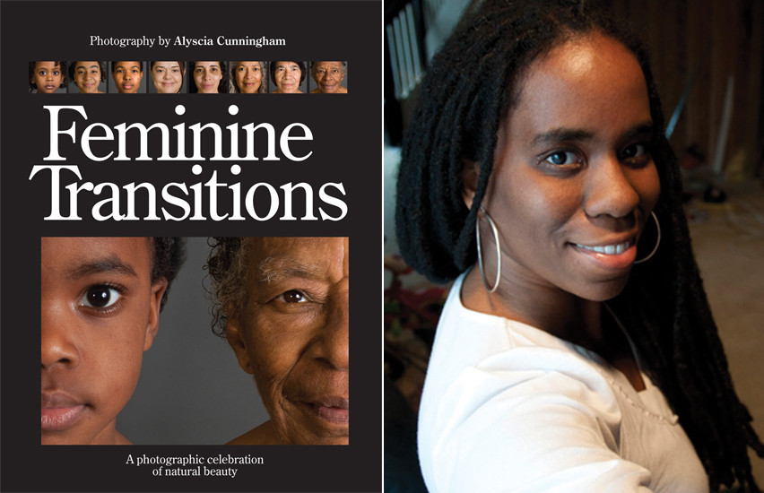 Feminine Transitions book cover and photo of Alyscia Cunningham