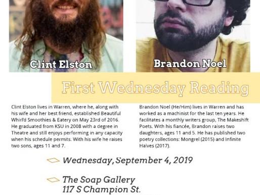 September First Wednesday Features Warren Poets