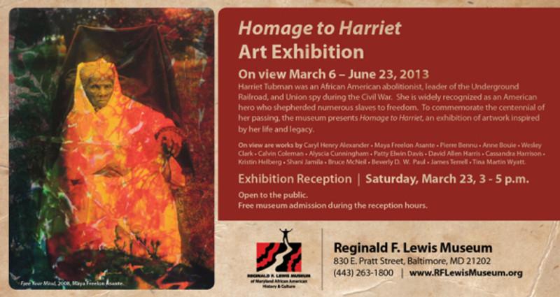 Homage To Harriet Exhibition flyer