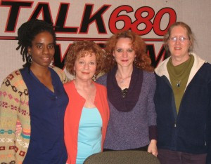 Alyscia Cunningham, Ann Quasman, Natalie Forest and Mare Cromwell at Women Talk Live