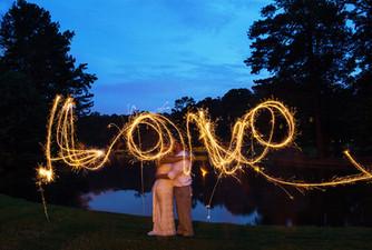 Sparkler Wedding Photo in Decatur, Georgia