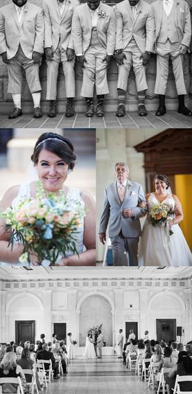 Wedding photography at the Dekalb History Center